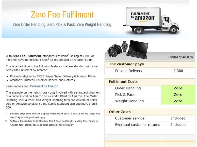 Zero Fee Fulfilment UK